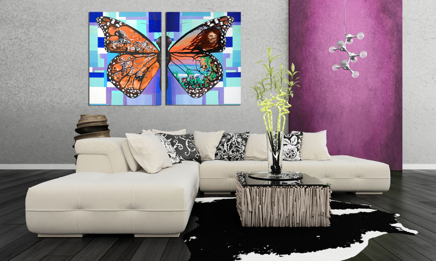 decorating with canvas prints