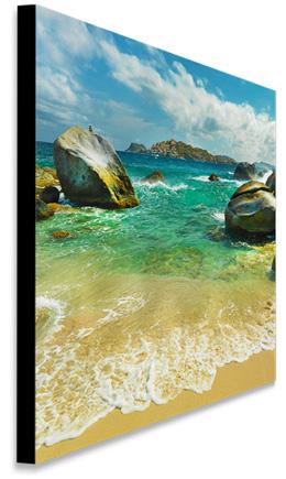 Canvas Photos with .75 Black or Color Wrap