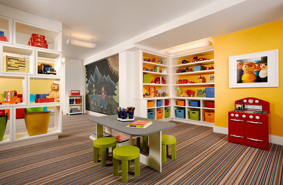 yellow play room