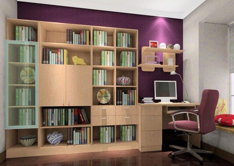 purple study room