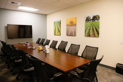commercial wall art on display in conference room
