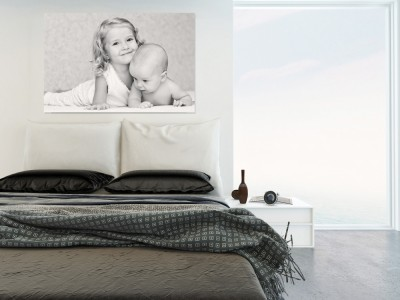 kids photos on canvas