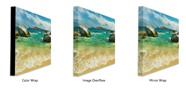 canvas wrap print options