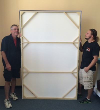 example of stretcher bars for large canvas print