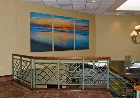 hotel art installed in lobby